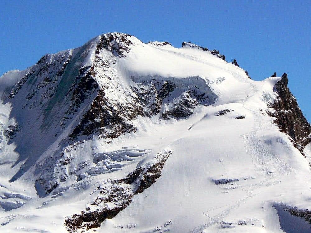 Ski tracks on Gran Paradiso