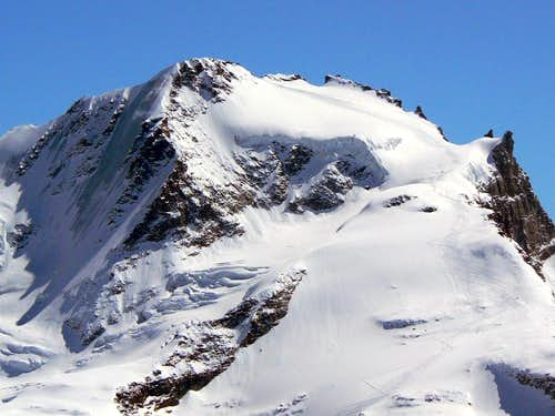 Ski tracks on Gran Paradiso