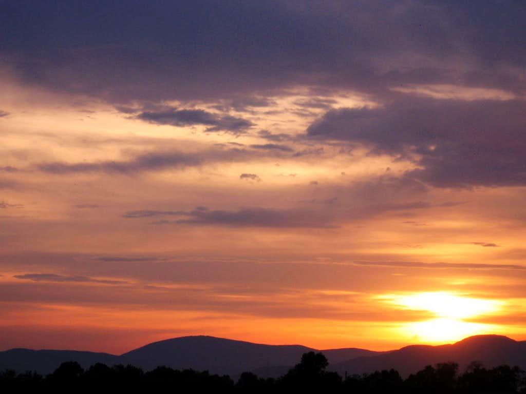 Sunset over Budai-hills