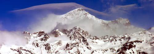 Il Grand Combin (4314 m.) versante sud