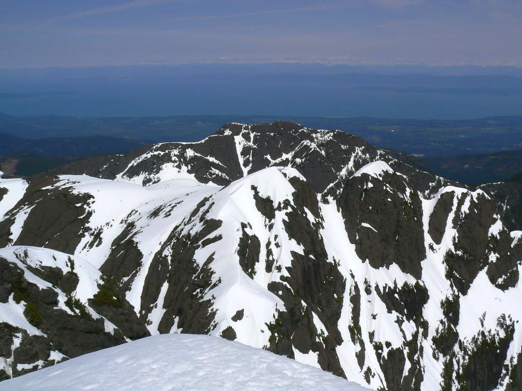 Mt Cokely from Mt Arrowsmith