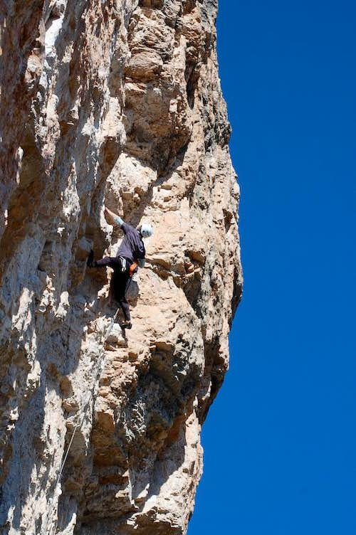 A 7b at the south face of Cima Grande Sud