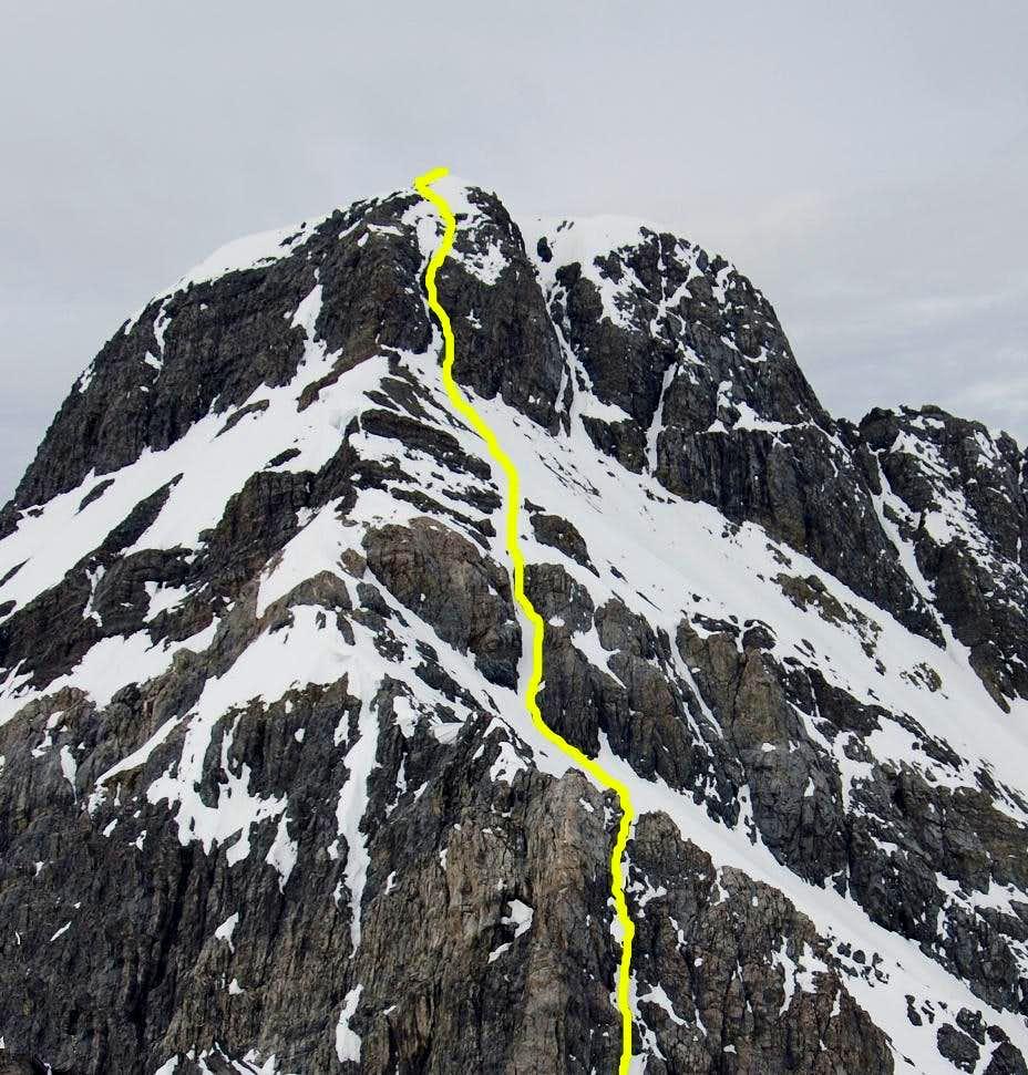 Head wall Borah Peak