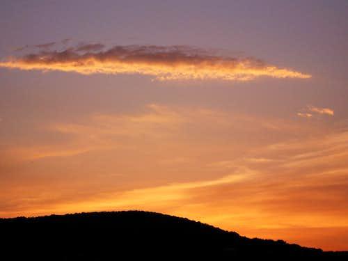 Sunset over Budai-hills 2