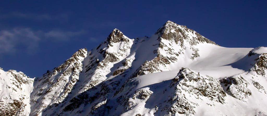 Le punte Patrì nord (3561 m) e sud (3581 m)