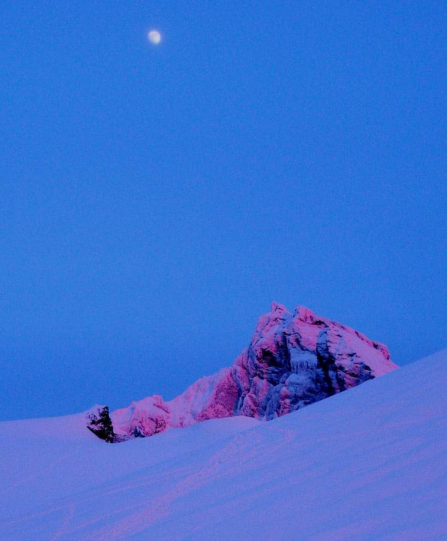 Moon Rising Over Lincoln Peak