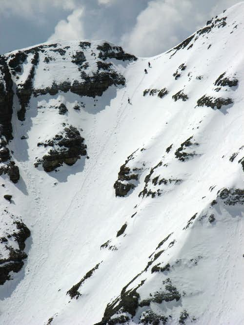 Climbers in the North Couloir