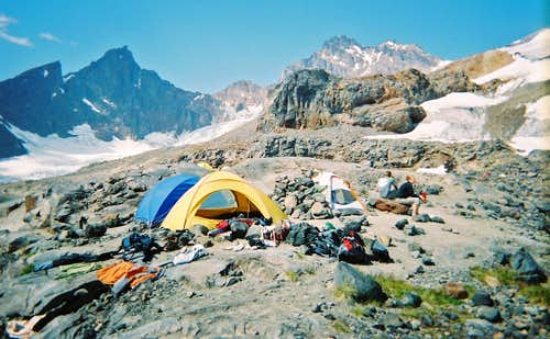 Our Basecamp Below the Easton Glacier
