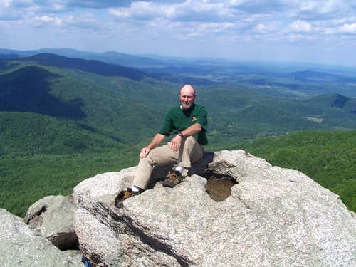 Dad on the Summit of Old Rag
