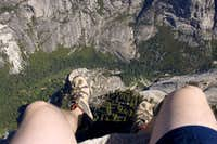My pasty white legs hangin over the edge