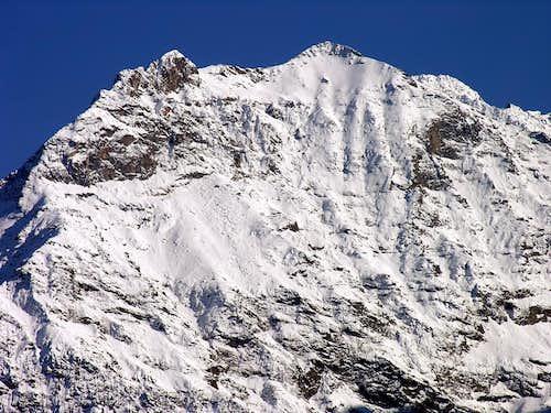 Il versante ovest della becca di Salè (3137 m)