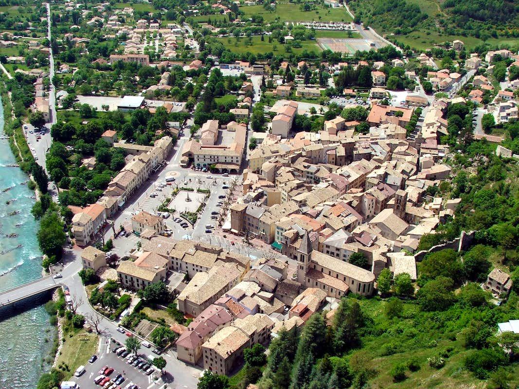 Aerial View Of Castellane Photos Diagrams Amp Topos