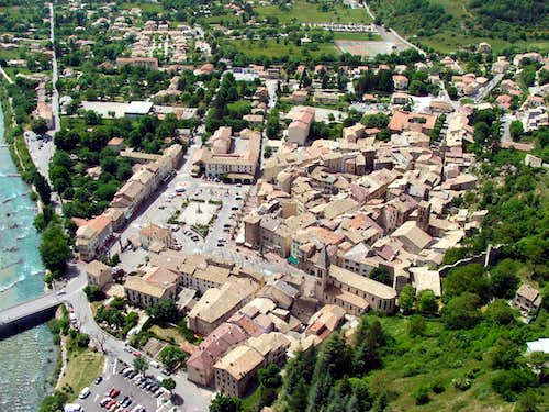 Aerial View of Castellane