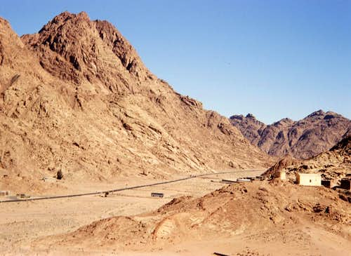 Entering St. Catherine on Sinai