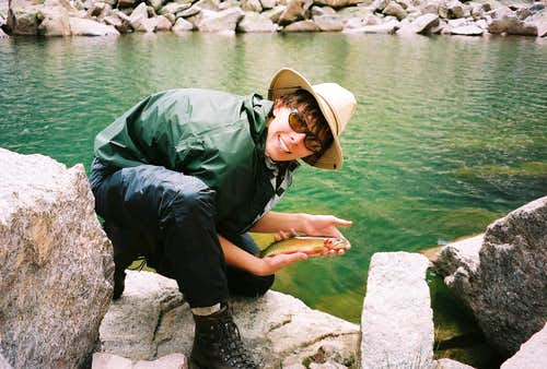 An excitable boy with his 1st Greenback Cutthroat