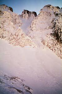 Estasen Couloir from Coronas Glacier