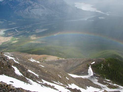 Rainbow over Miette\'s Descent