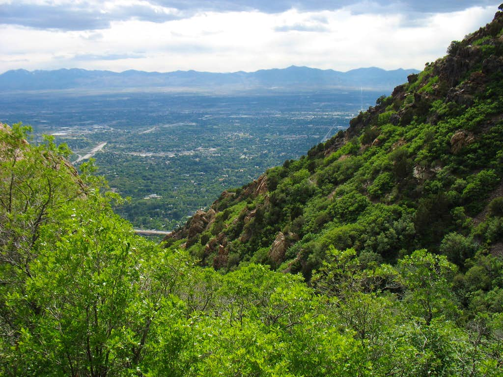 Salt Lake Valley from Mt. Olympus trail