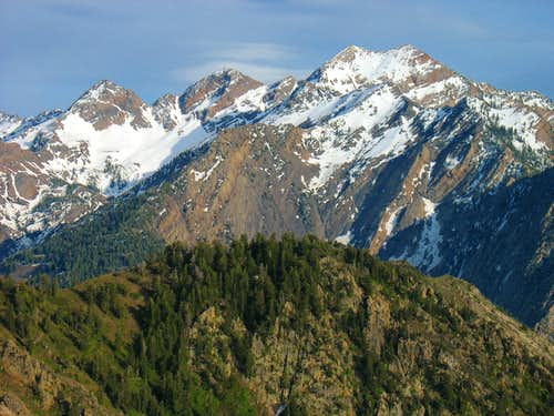 Triple Traverse Peaks from Mt. Olympus