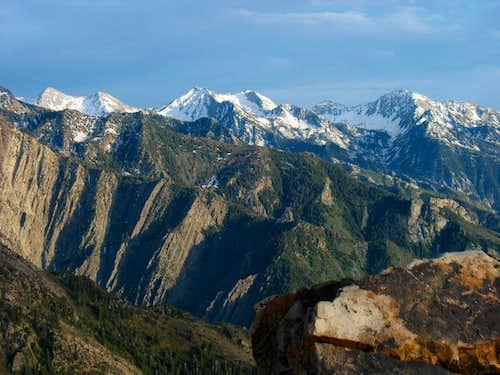 Alpine Ridge peaks from Mt. Olympus