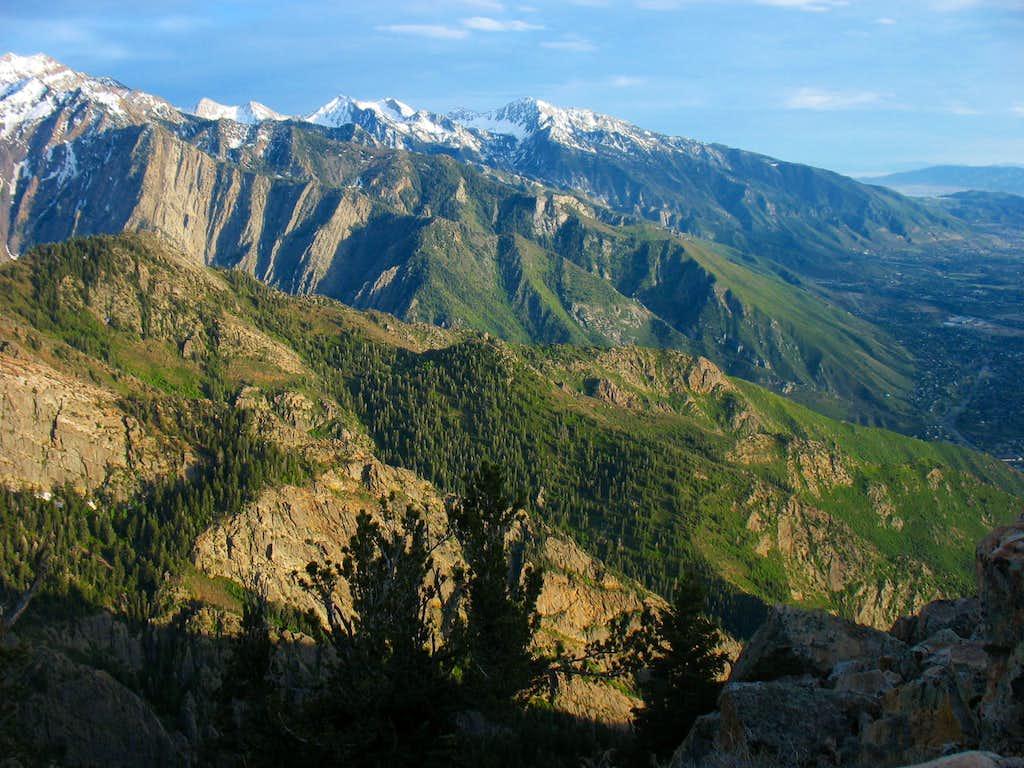 Peaks over Salt Lake Valley