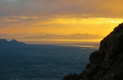 Sunset over Salt Lake from Mt. Olympus