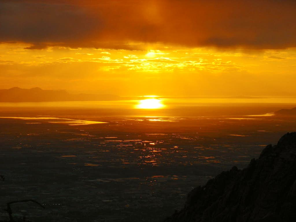Salt Lake sunset from Mt. Olympus
