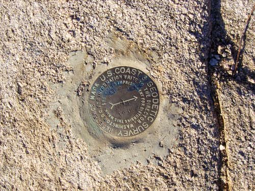 Warren Peak Survey marker