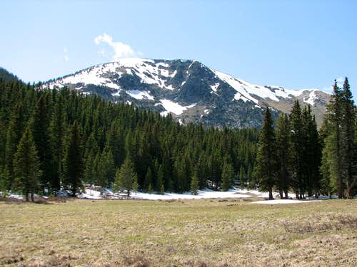 Approach to East Pecos Baldy