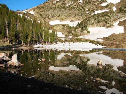 Pecos Baldy Lake reflections