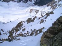 Climbers in Crux of NW face