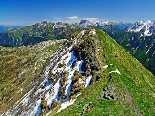 Findenigkofel / Monte Lodin east view