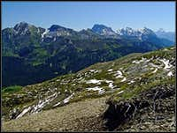The ascent on Findenigkofel / Monte Lodin