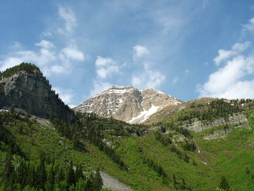 North Timpanogos from the Great Western Trail
