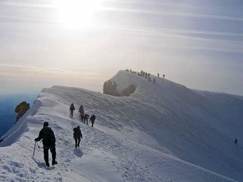 West ridge of Hood near summit