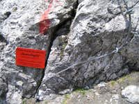 Beginning of the Via Ferrata Grandlspitz