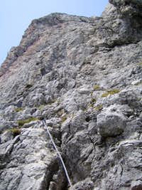 Route of the via ferrata Grandlspitz