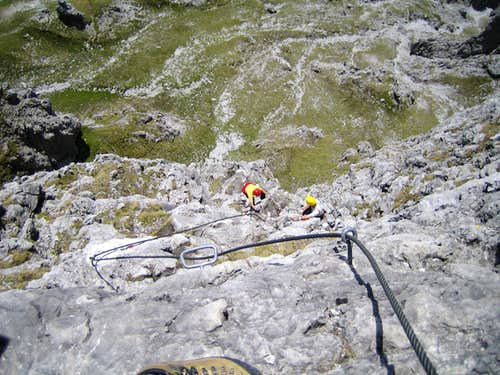 Middle part of the Via Ferrata