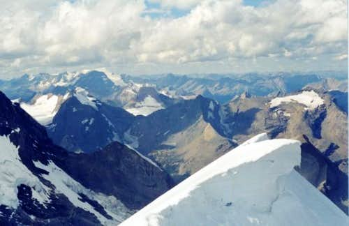Mt. Robson ridge. View from...