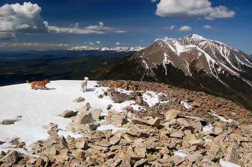 West Spanish Peak from East Spanish Peak