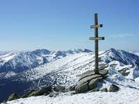 Nizke Tatry - Summit cross on Dumbier