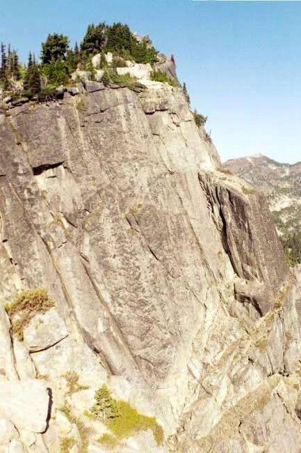 The dramatic granite east...