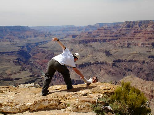 Saving my wife at the Grand Canyon