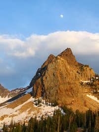 moon over Sundial Peak