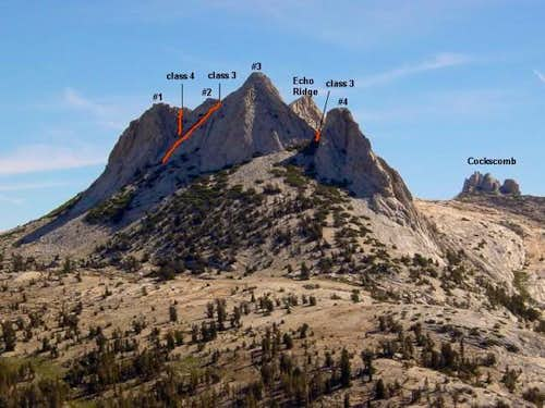 The West Face of Echo Peaks....