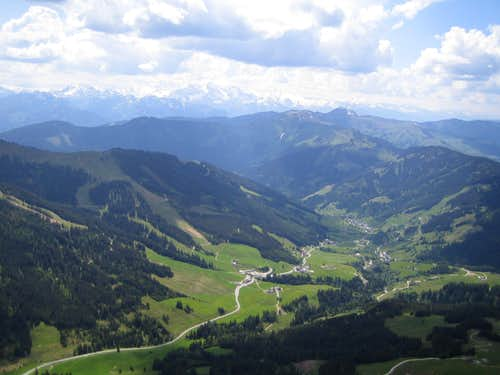 View to Dienten and Glockner group