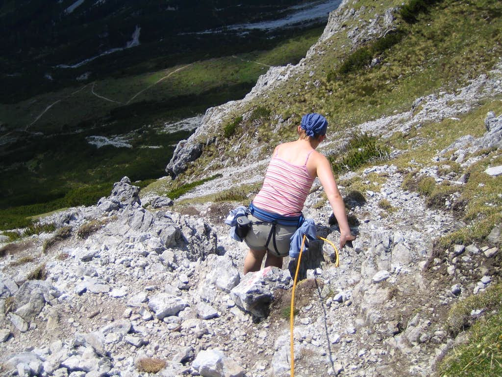 Steep rocks near the summit