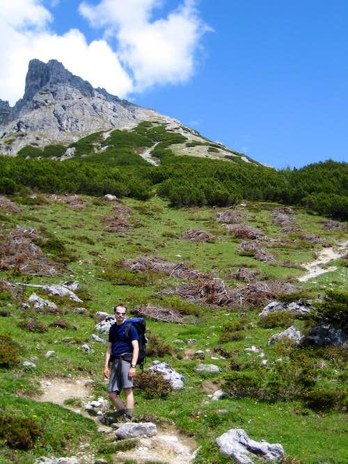 First part of the ascent after Erich hut