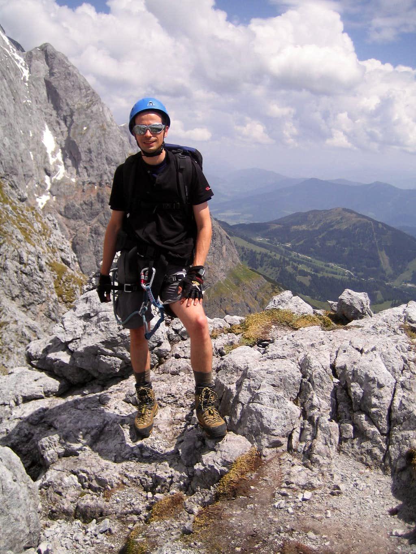 Summit shot after climbing the Via Ferrata