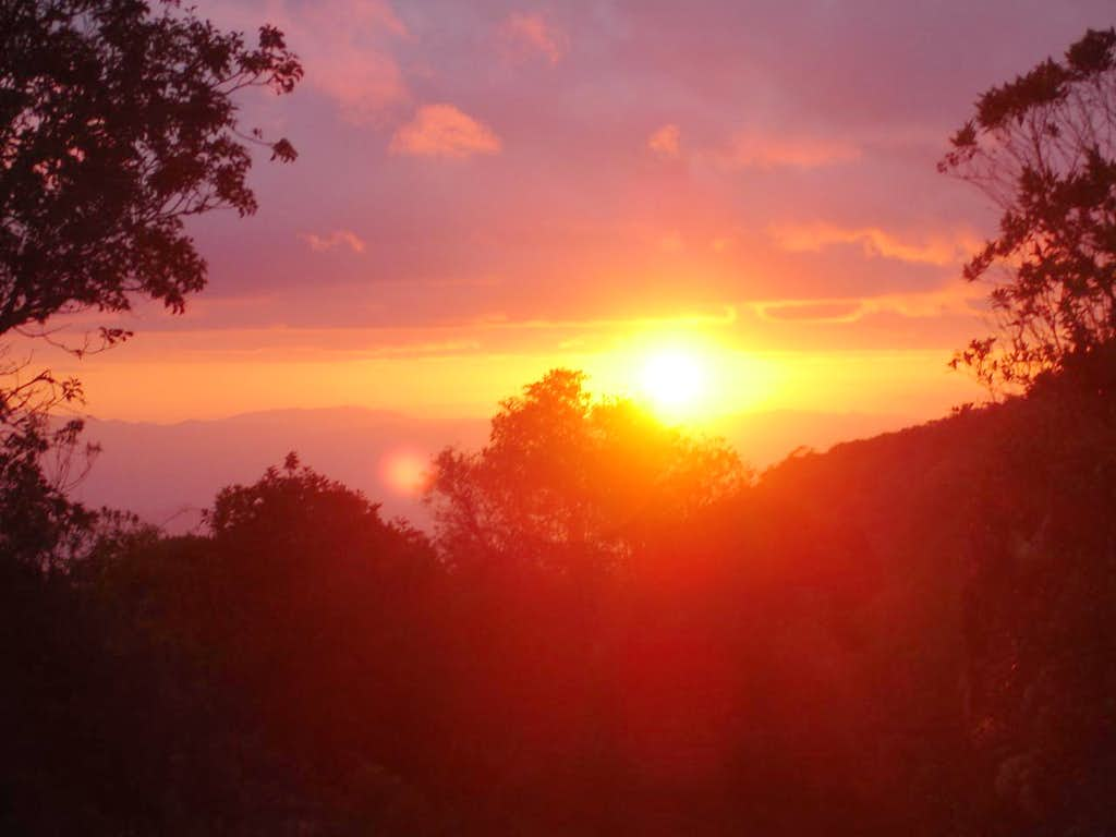 Sunset in Itatiaia NP